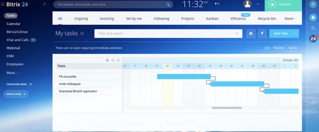 Giao diện phần mềm quản lý công việc Bitrix24