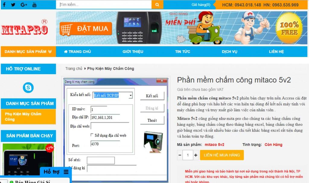 Phần mềm chấm công Mitaco thường sử dụng cho các máy chấm công phiên bản cũ