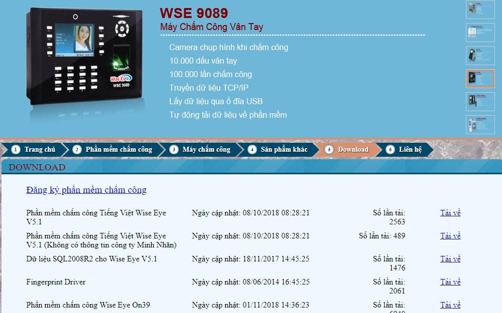 Review các phần mềm chấm côngWise Eyes là phần mềm chấm công thuộc dạng đầu tiên của Việt Nam nên chưa có chấm công online
