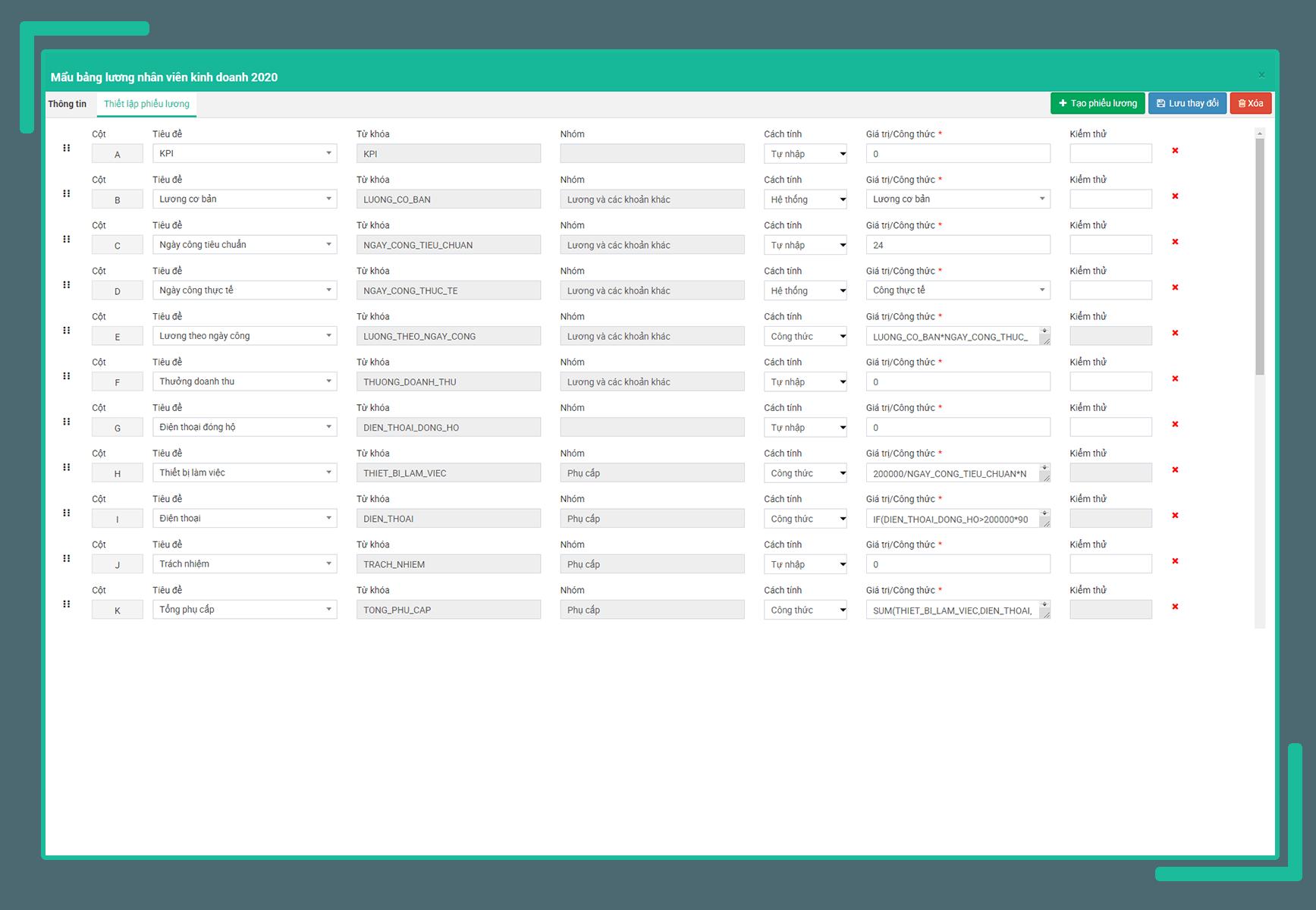 Phần mềm tính lương trực tuyến