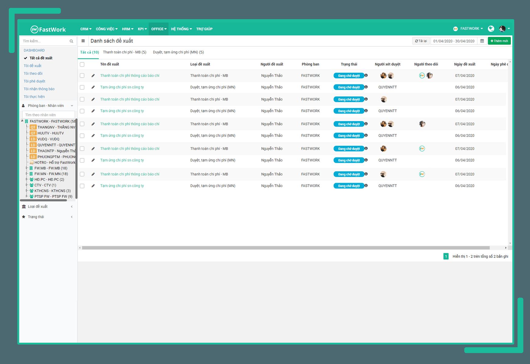 Phần mềm quản lý đề xuất và phê duyệt điện tử