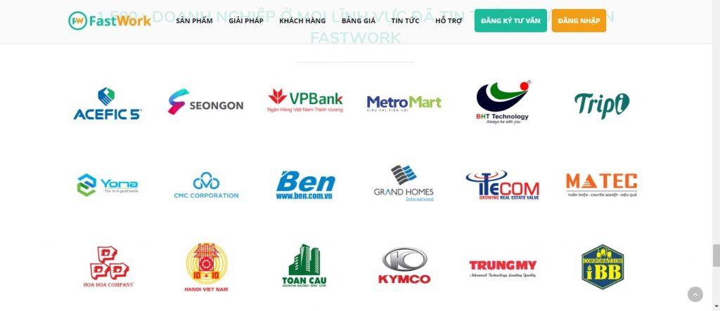 +1500 khách hàng doanh nghiệp thuộc mọi lĩnh vực đã tin dùng FastWork