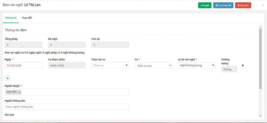 Phần mềm chấm công Face ID bằng di động