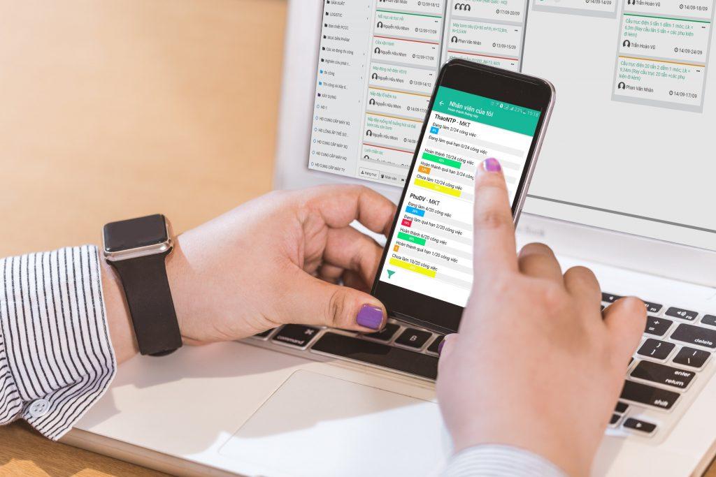 Quản lý và theo dõi tình tình triển khai công việc dự án trên smartphone dù ở bất cứ đâu