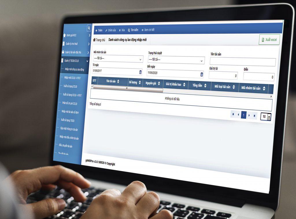 Phần mềm quản lý tài sản nội bộ