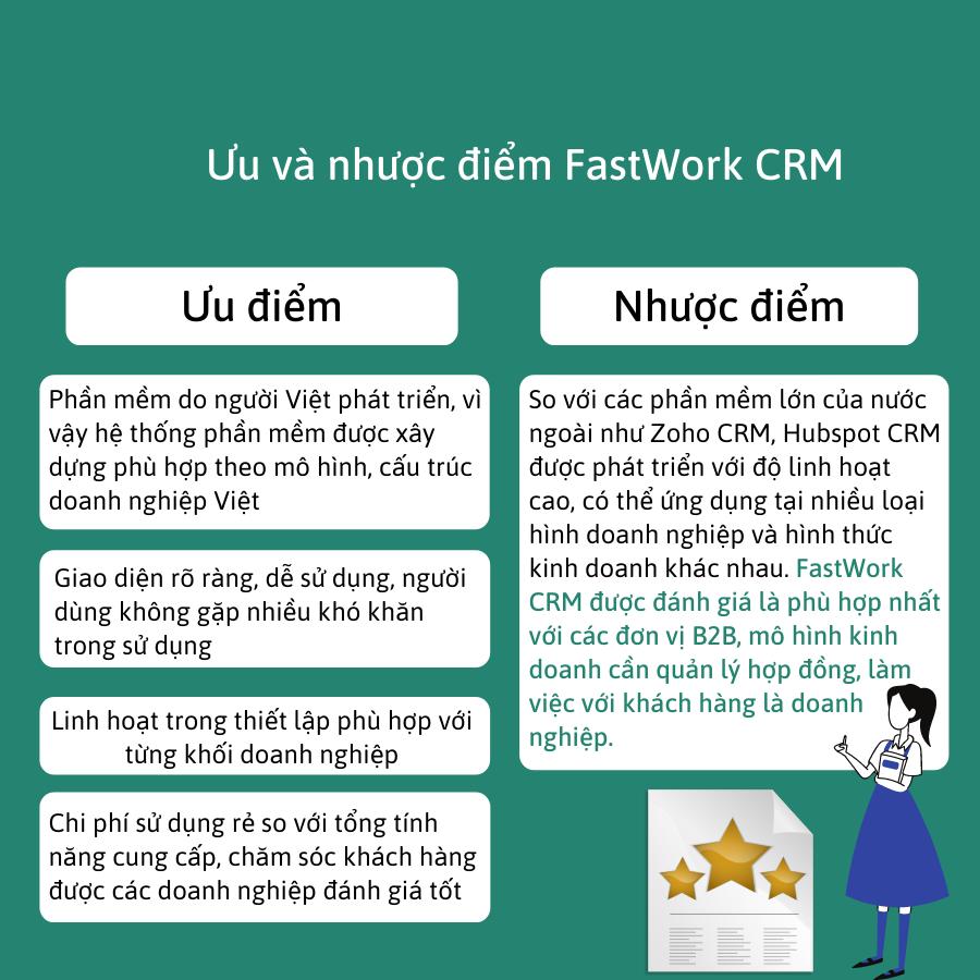 Đánh giá ưu và nhược điểm phần mềm FastWork CRM