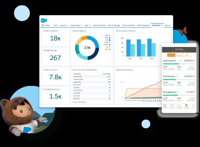 Giao diện phần mềm quản trị quan hệ khách hàng Salesforce CRM