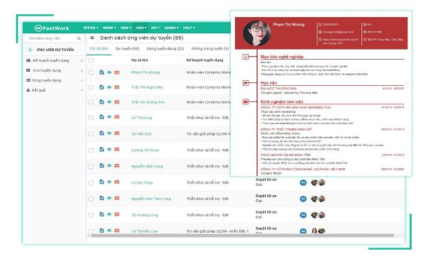 Phần mềm quản lý tuyển dụng trực tuyến - Fastwork Hiring