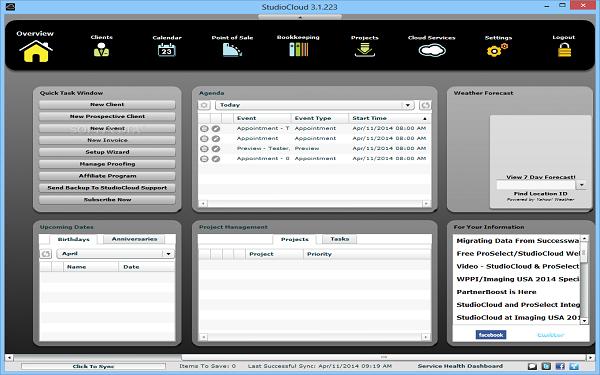 Bạn có thể chủ động tạo các hóa đơn bán hàng trên phần mềm quản trị StudioCloud`