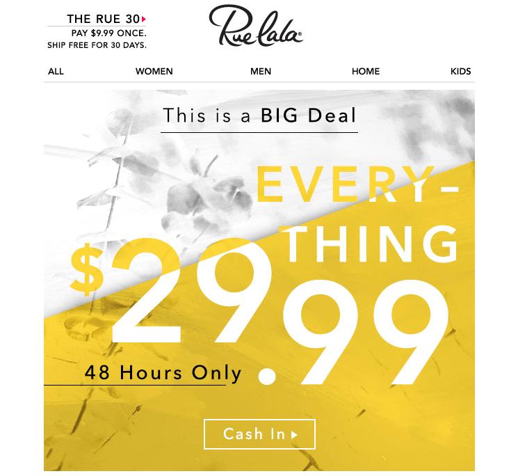 Chiến thuật đặc biệt về giá từ thương hiệu Ruelala