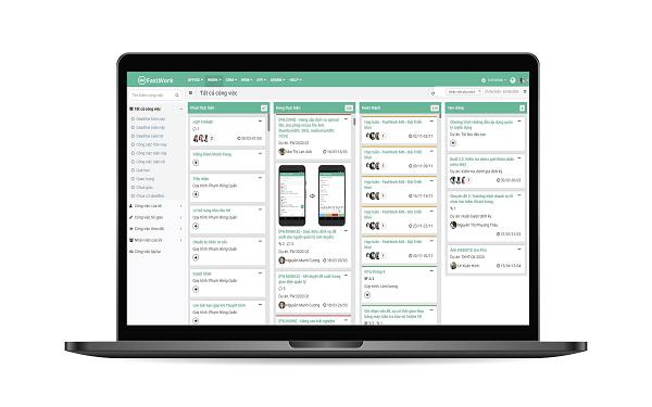 Phần mềm Quản lý doanh nghiệp Fastwork được xây dựng trên nền tảng trực tuyến SaaS
