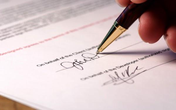 Mẫu hợp đồng dịch vụ báo giờ cũng phải có xác thực pháp lý của 2 bên