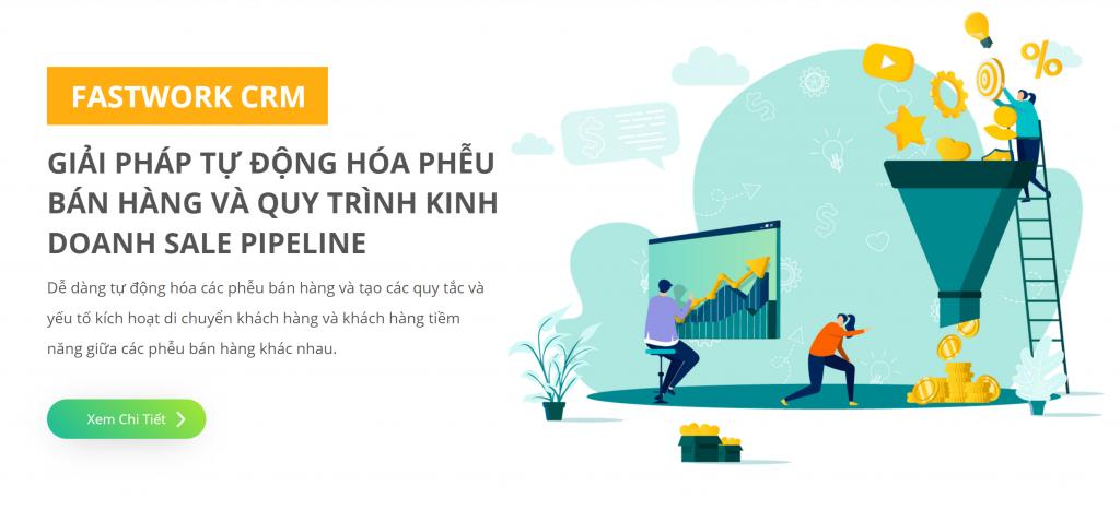 Fastwork CRM - Giải pháp tự động hóa phễu bán hàng và Quy trình kinh doanh Sale Pipeline