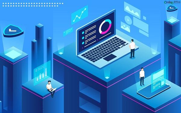 Văn phòng điện tử - Là môi trường làm việc nơi các phần mềm công nghệ, trí tuệ nhân tạo, các phương tiện truyền thông tham gia hỗ trợ con người và thay thế văn phòng truyền thống