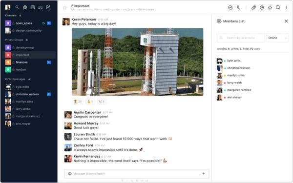 Rocket.Chat là một giải pháp mã nguồn mở - cho phép người dùng có thể sửa đổi và tích hợp với nhiều công cụ làm việc khác nhau