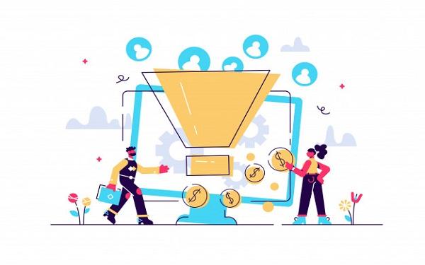 Sales funnel hay còn được gọi kênh bán hàng được hình dung ở dạng phễu bán hàng
