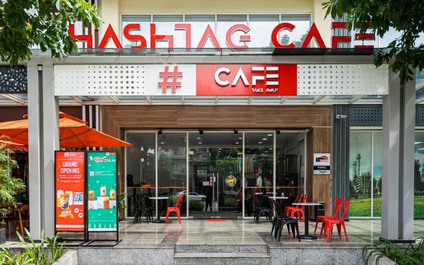 Chuỗi Hashtag Cafe sở hữu 2 cửa hàng chính và 3 cửa hàng phục vụ mang đi