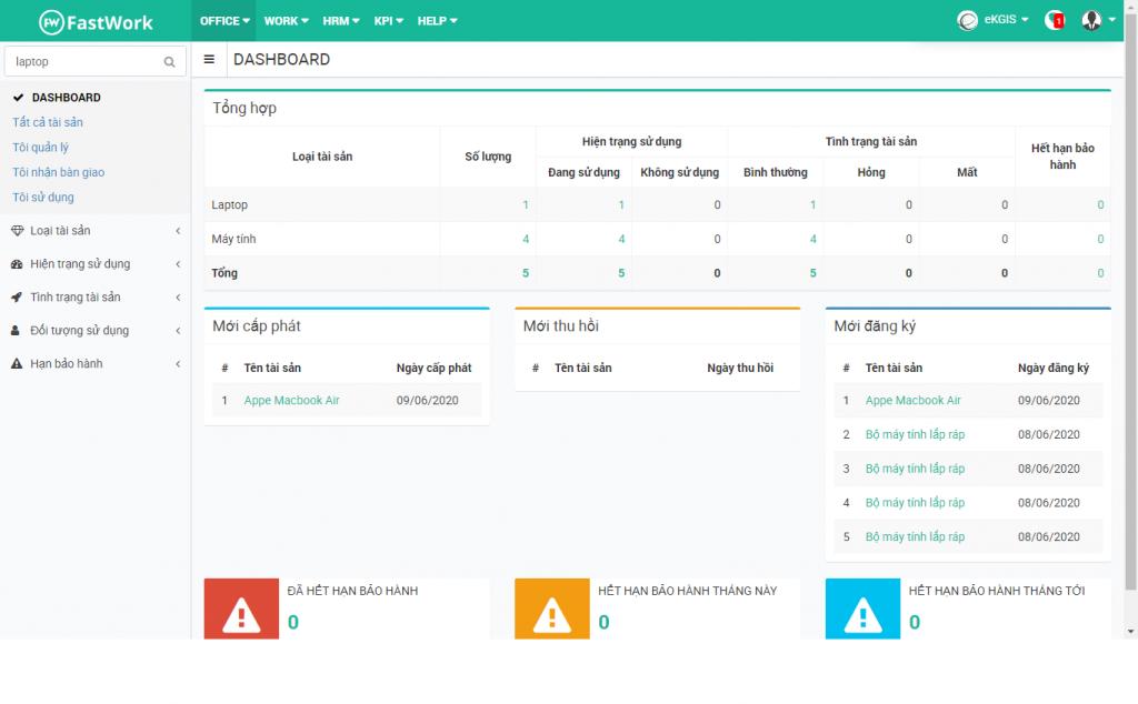 Phần mềm quản lý trường học hỗ trợ quản lý tập trung trang thiết bị tài sản, cơ sở vật chất