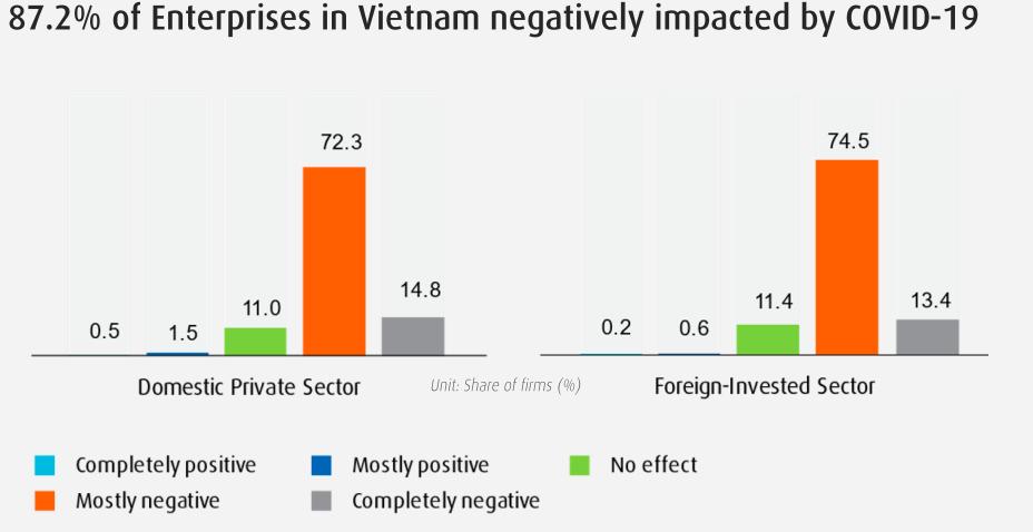 Báo cáo về tác động của Covid-19 đối với doanh nghiệp Việt Nam
